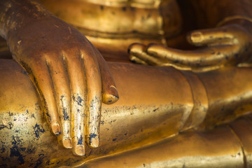 hands of golden buddha