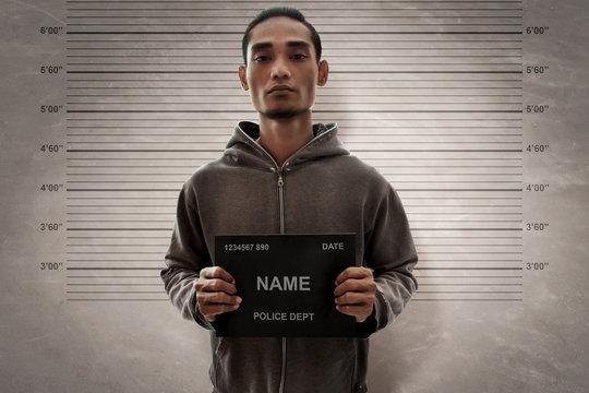 Mugshot of criminal