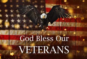 United States Flag. Veterans Day Concept