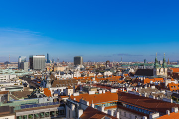 View from Saint Stephan cathedral in Vienna Austria