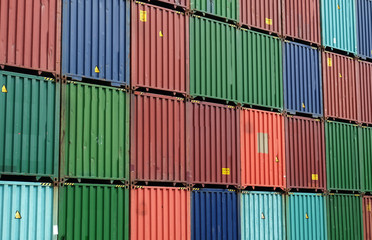 Containers are stacking in the depot for contain import and export cargo.