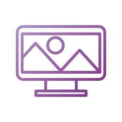 design graphic picture screen image icon vector illustration