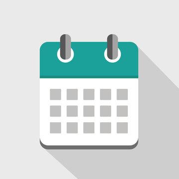 kalender icon neutral türkis