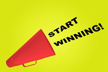 Start Winning! concept