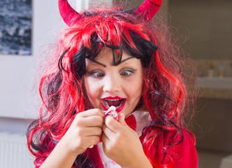 Little girl  in Halloween party