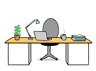 Arbeitsplatz und Schreibtisch aufräumen