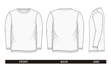 sketch Shirt long sleeve white vector