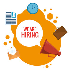 we are hiring business concept