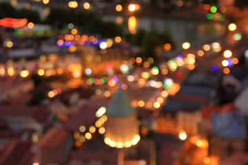 Blurred night city