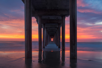 Wall Mural - Ellen Browning Scripps Memorial Pier at sunset in La Jolla, California