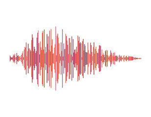 Sound wave. Isolated on white background. Vector colorful illustration.