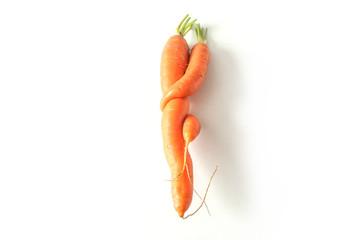 carottes bio de forme amusante