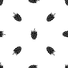 Blackberry fruit pattern seamless black