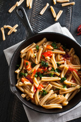 Wheat pasta with fresh tomatoes