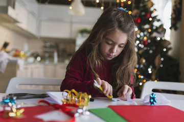 Making Christmas cards.