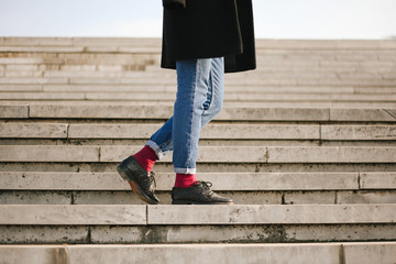 Female legs wearing jeans - horizontal