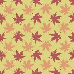 Maple Leaves, Autumn pattern, seamless vector illustration