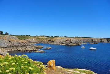 île d'Yeu, Vendée, vue sur la côte près du port de la Meule