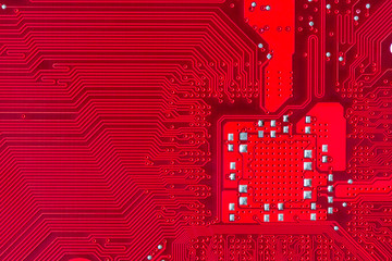 Red printed circuit board background