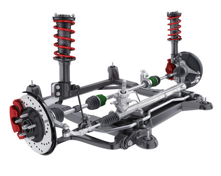 Car suspension and brake and steering