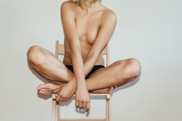 Close up of naked woman
