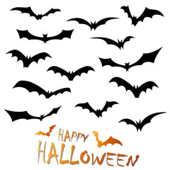 collection Happy Halloween bats