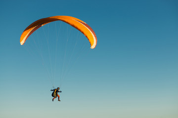 skydiver  flying in the sky