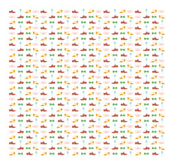 Vector seamless festive pattern