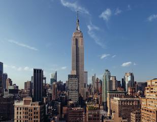 Manhattan Skyline in a Summer Day
