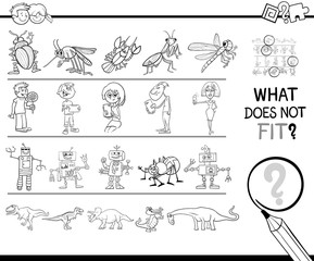 wrong picture in row game coloring page