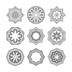 Decorative items to decorate your work. Vector design elements.