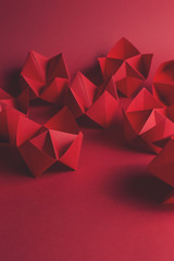 Red fortune tellers on red...