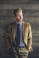 Portrait of Ginger Businessman
