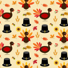 Thanksgiving turkey and pilgrim hat pattern
