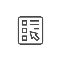 Online survey line icon
