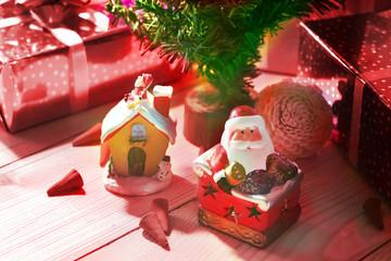 Decoration under christmas tree.