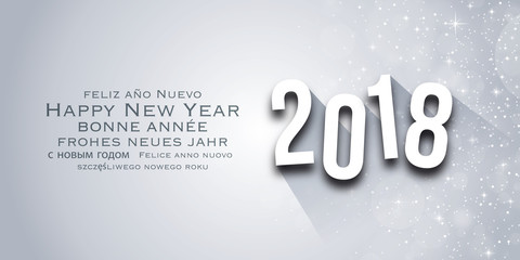 Carte de vœux - Wishes New Year 2018
