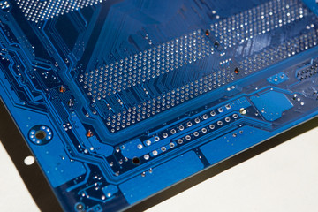 Electronic board. The color is blue.