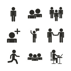 Teamwork icons design icon vector illustration graphic design