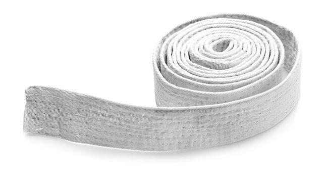 Karate belt on white background