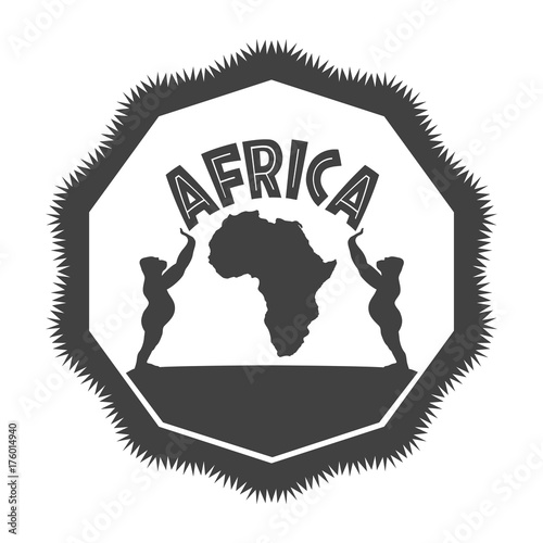 Monochrome Africa Symbol Stock Image And Royalty Free Vector Files