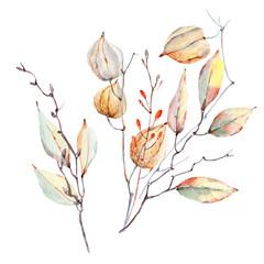 watercolor autumn composition.