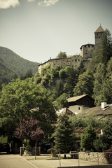 Old castle in a mountain view