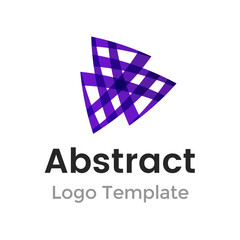 Triangles vector logo design template. Business abstract icon