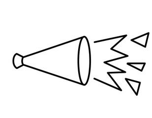 メガホン(線画、声2)