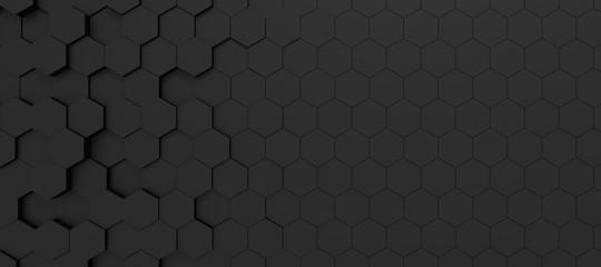 hexagon background Wall mural