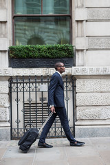 Modern afro businessman in the City