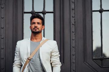 Handsome Caucasian Man Outdoors