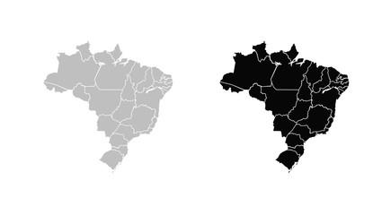 Wall Mural - Map of Brazil