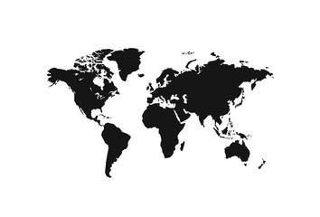 Wall Mural - Political World Map vector Illustration